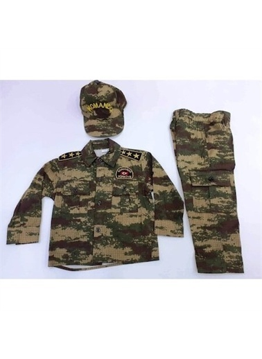 Sevimli Kids Sevimli Asker Kıyafeti Komando Çocuk Asker Kostüm 2-10 Yaş New Yeşil